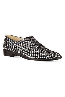 ROBERT CLERGERIE Jasdam flocked check Oxford shoes
