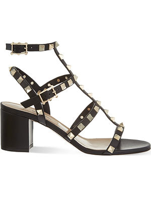 VALENTINO Rockstud leather block heel