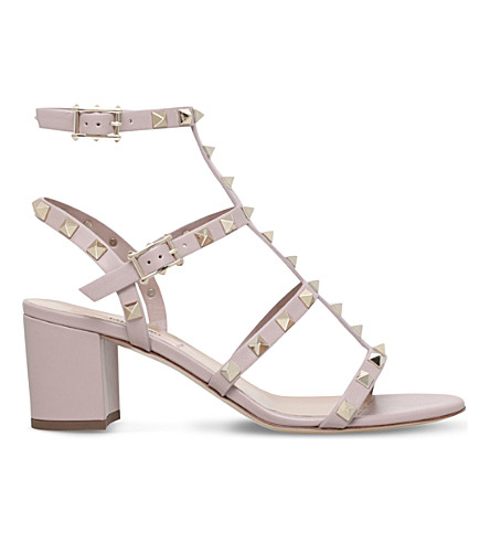 VALENTINO Garavani Rockstud 60 leather sandals (Nude