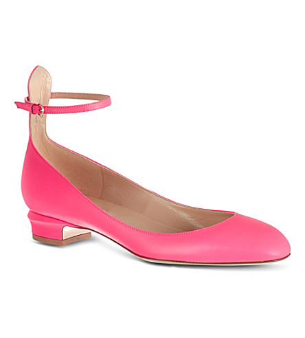 VALENTINO Tan go 25 leather pumps (Fushia