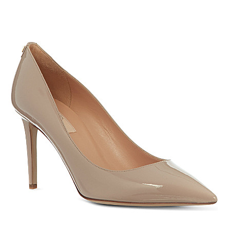 VALENTINO Patent leather courts with stud detail (Nude