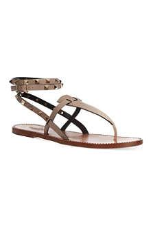 VALENTINO Double-strap Rockstud sandals
