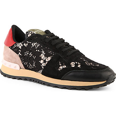 VALENTINO Lace trainers (Blk/other