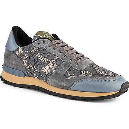 VALENTINO Lace trainers (Blue