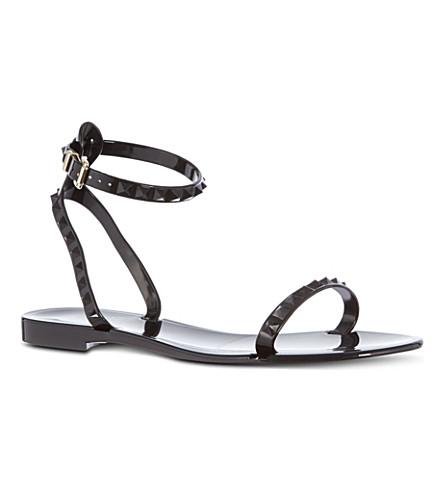 BOURNE Rockstud ankle strap sandals (Black