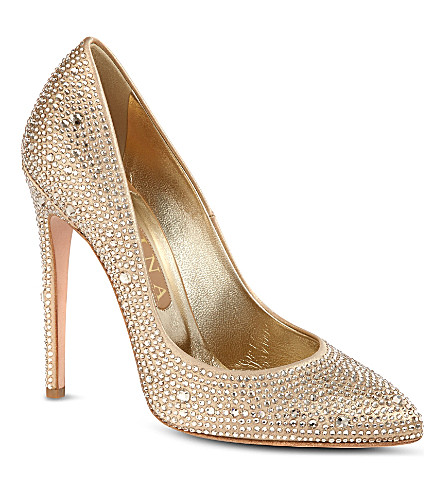 GINA Alfie court shoes (Gold