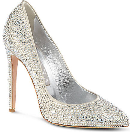 GINA Alfie court shoes (Silver