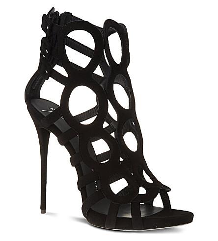 GIUSEPPE ZANOTTI Zip back sandals (Black