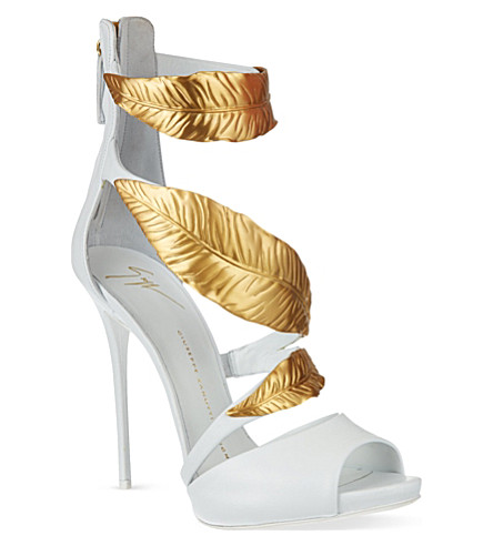 GIUSEPPE ZANOTTI Back zip sandals (White