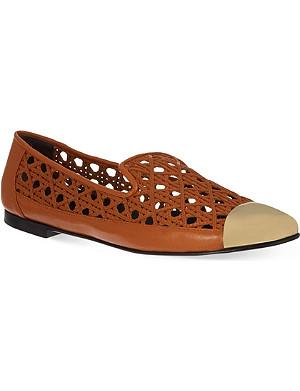 GIUSEPPE ZANOTTI Woven slippers