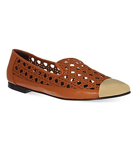 GIUSEPPE ZANOTTI Woven slippers (Tan