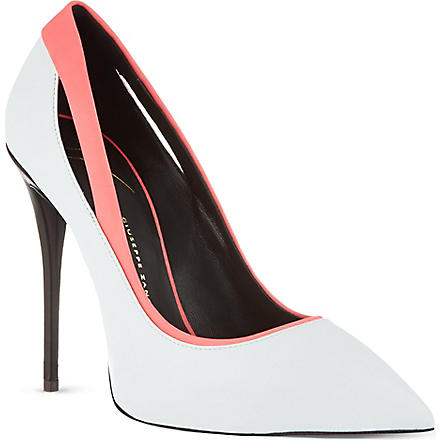 GIUSEPPE ZANOTTI Cut-out court shoes (White/oth