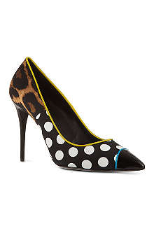GIUSEPPE ZANOTTI Polka dot leather pumps