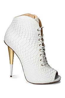 GIUSEPPE ZANOTTI Lace-up leather ankle boots