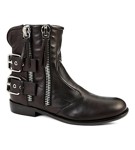 GIUSEPPE ZANOTTI Zipped biker boots (Black