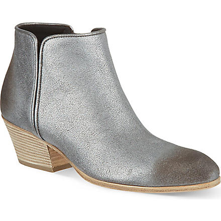 GIUSEPPE ZANOTTI Side zip ankle boots (Silver