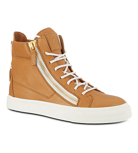 GIUSEPPE ZANOTTI High-top trainers (Tan