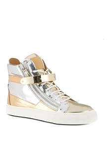 GIUSEPPE ZANOTTI Metallic high-top trainers