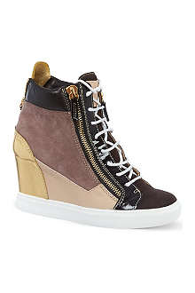 GIUSEPPE ZANOTTI Multi-panel wedge trainers
