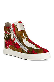 GIUSEPPE ZANOTTI Zip up high-tops