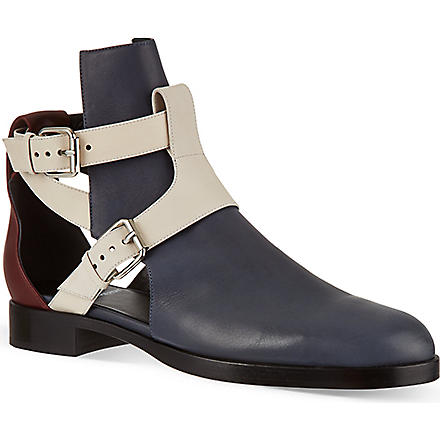 PIERRE HARDY Tibalt cut-out ankle boots (Blue/dark