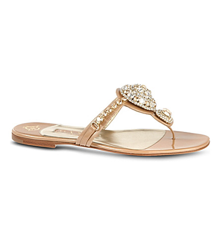 RUBY HELMET Jane sandals (Cream