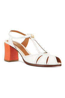 FENDI Chameleon leather sandals