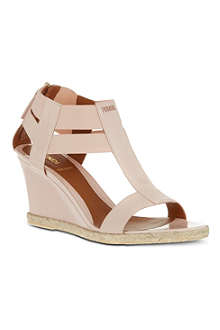 FENDI Carioca patent leather sandals