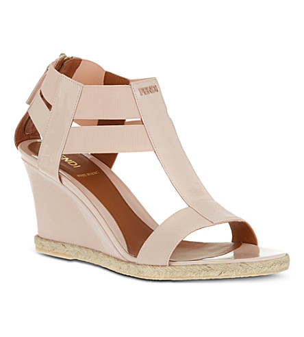 B STORE Carioca patent leather sandals (Cream
