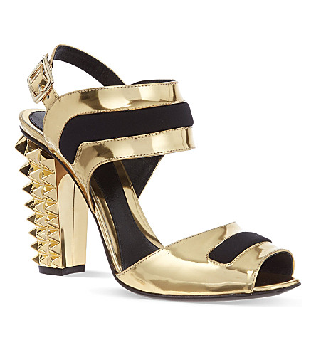 FENDI Polifonia sandals (Gold