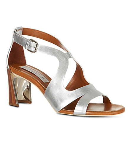 STELLA MCCARTNEY Pumblechook metallic sandals (Silver