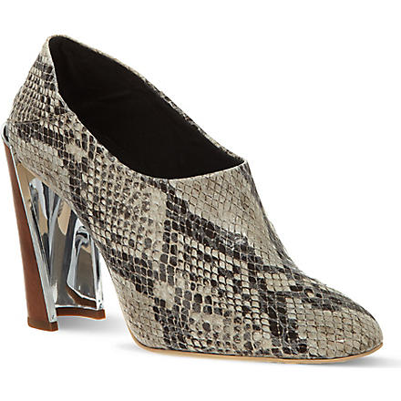 STELLA MCCARTNEY Wemmick python-look shoes (Beige