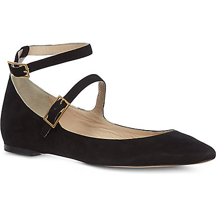 CHLOE Bells suede pumps (Black