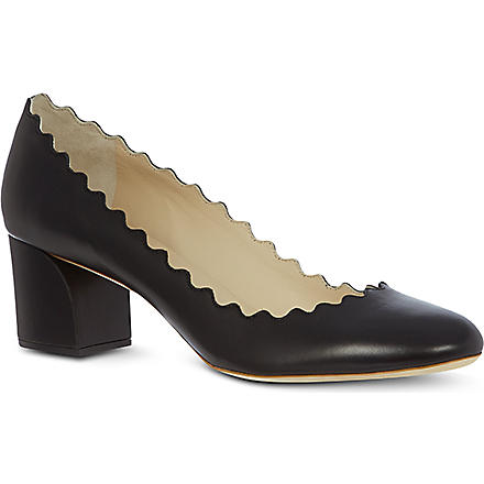 CHLOE Elf leather courts (Black