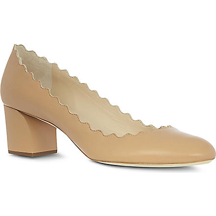 CHLOE Elf leather courts (Beige