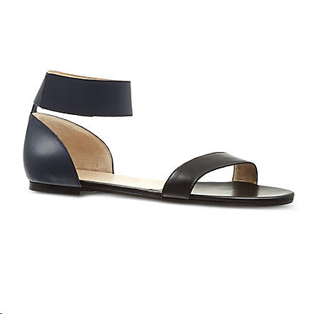 CHLOE Ronald flat two-tone sandals (Black