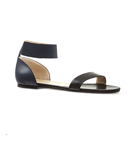 NO 21 Ronald flat two-tone sandals (Black
