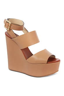 CHLOE Sledge leather wedges