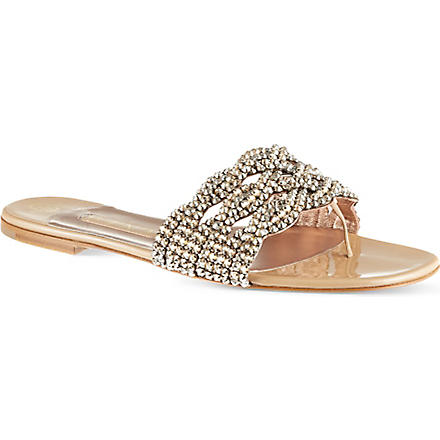 GINA Dawn glitter sandals (Beige