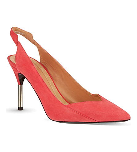 ROLAND MOURET Rosa court shoes (Salmon