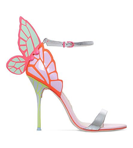 SOPHIA WEBSTER Chiara leather heeled sandals (Pink comb