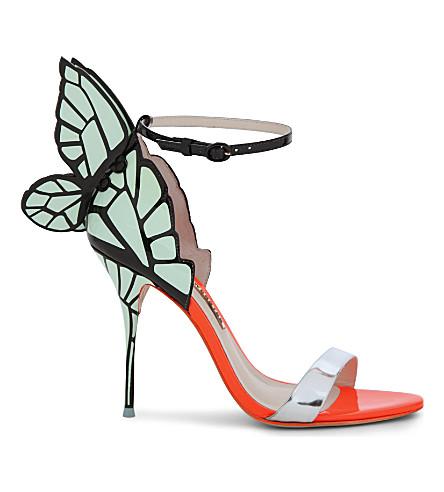SOPHIA WEBSTER Chiara butterfly heeled sandals (Silver com
