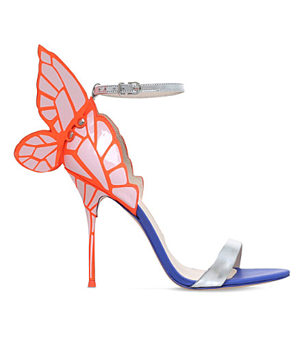 SOPHIA WEBSTER Chiara leather butterfly heeled sandals (Pink