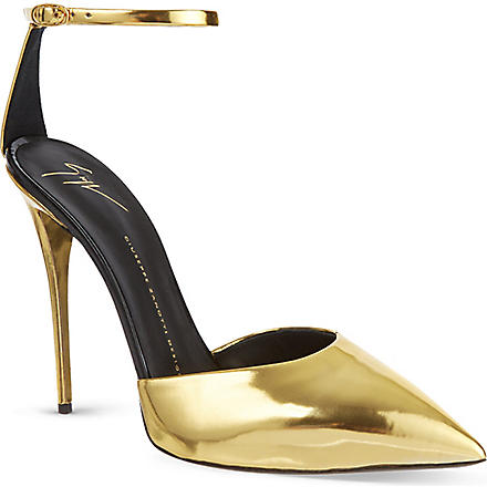 GIUSEPPE ZANOTTI Pointed toe sandals (Gold