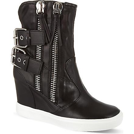 GIUSEPPE ZANOTTI Toe zip trainer boots (Black