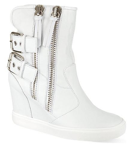 GIUSEPPE ZANOTTI Toe zip trainer boots (White