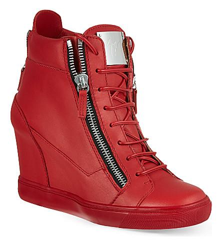 GIUSEPPE ZANOTTI Wedge trainers (Red