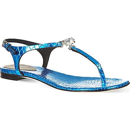 GIUSEPPE ZANOTTI Crystal sandals (Turquoise