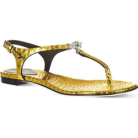 GIUSEPPE ZANOTTI Crystal sandals (Yellow