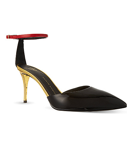 GIUSEPPE ZANOTTI Patent leather court shoes (Black